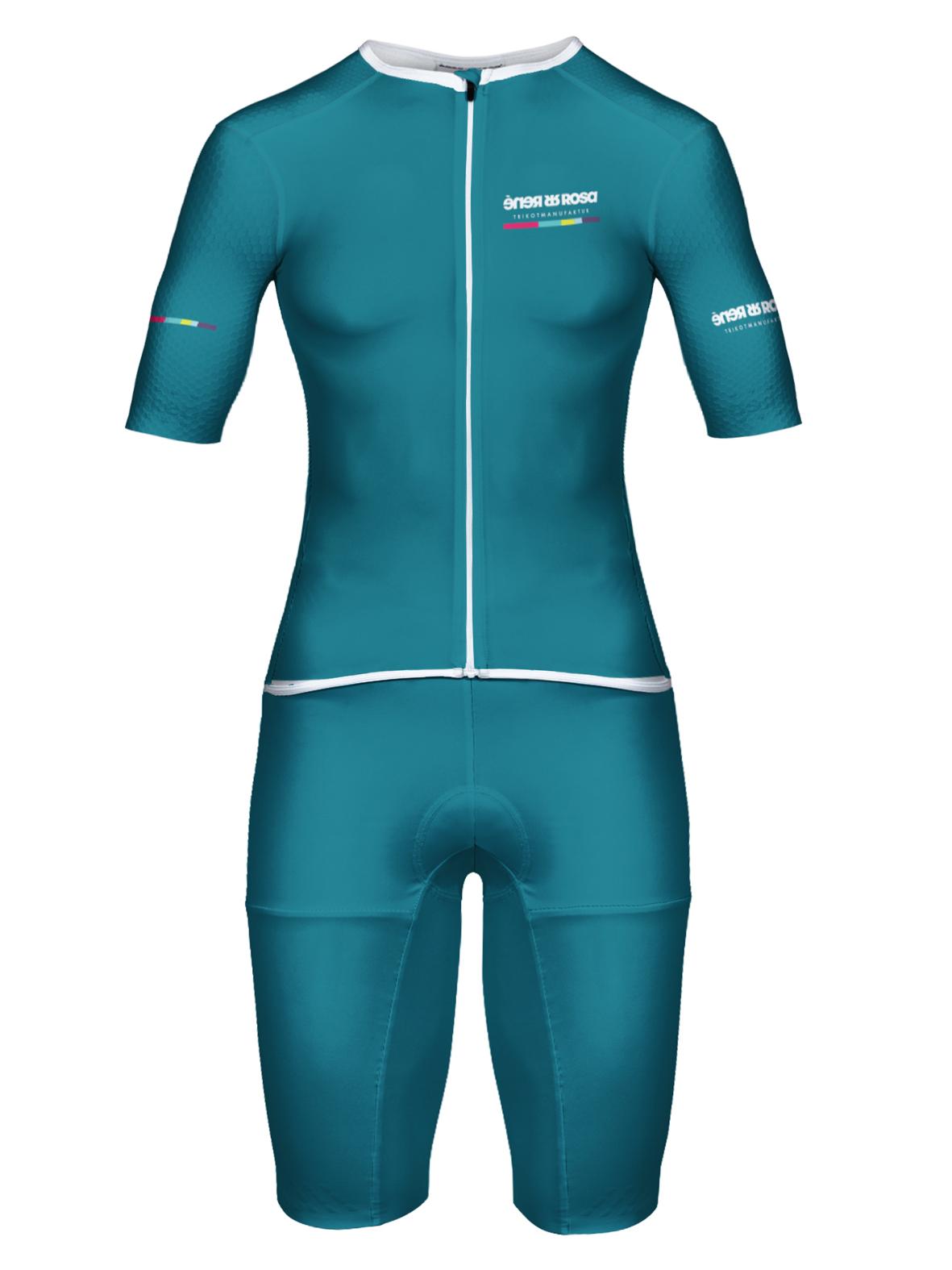 Aero Triathlon Einteiler  RRT2777W Damen / RR-Stripes Petrol
