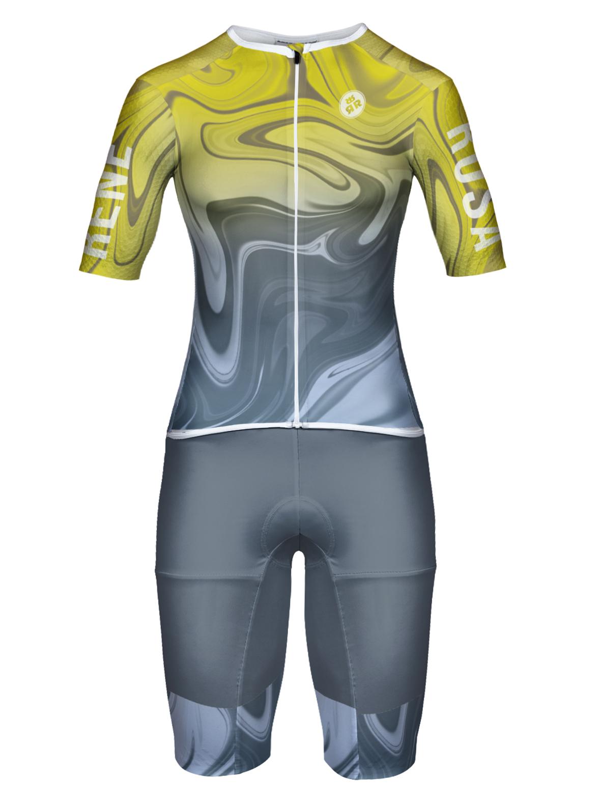 Aero Triathlon Einteiler  RRT2777W Damen / Hyperdelic- YellowSteel