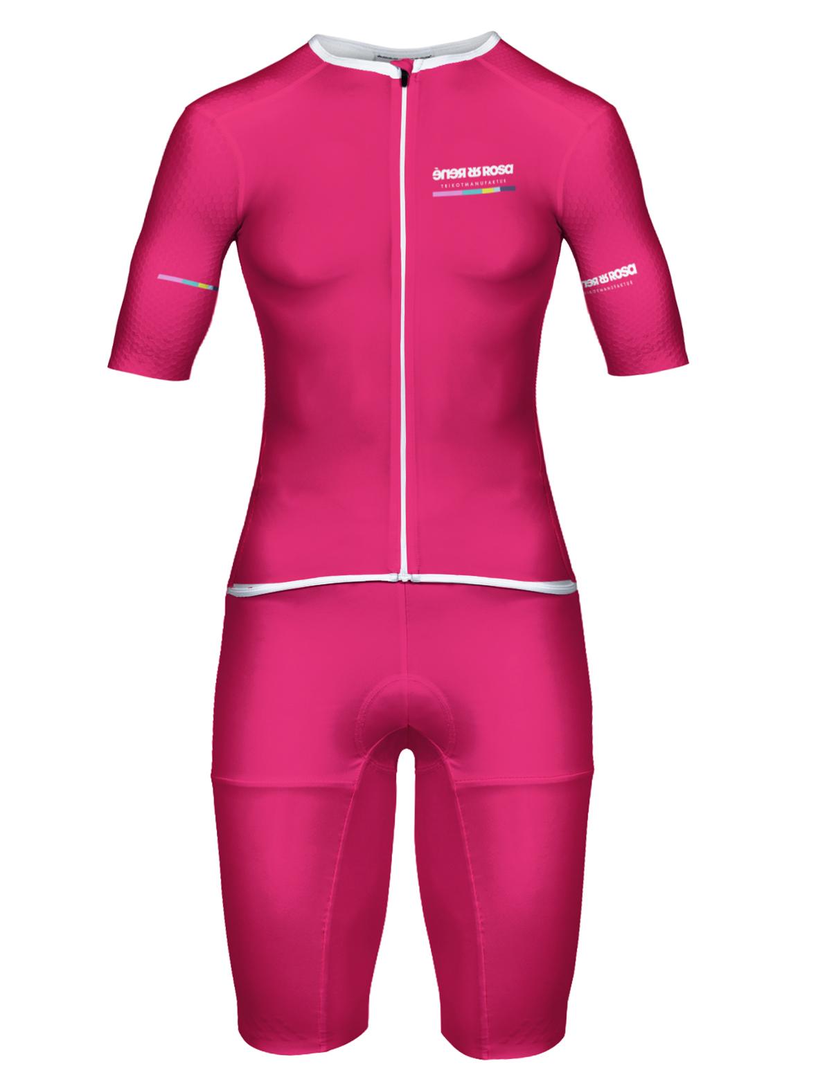 Aero Triathlon Einteiler  RRT2777W Damen / RR-Stripes pink