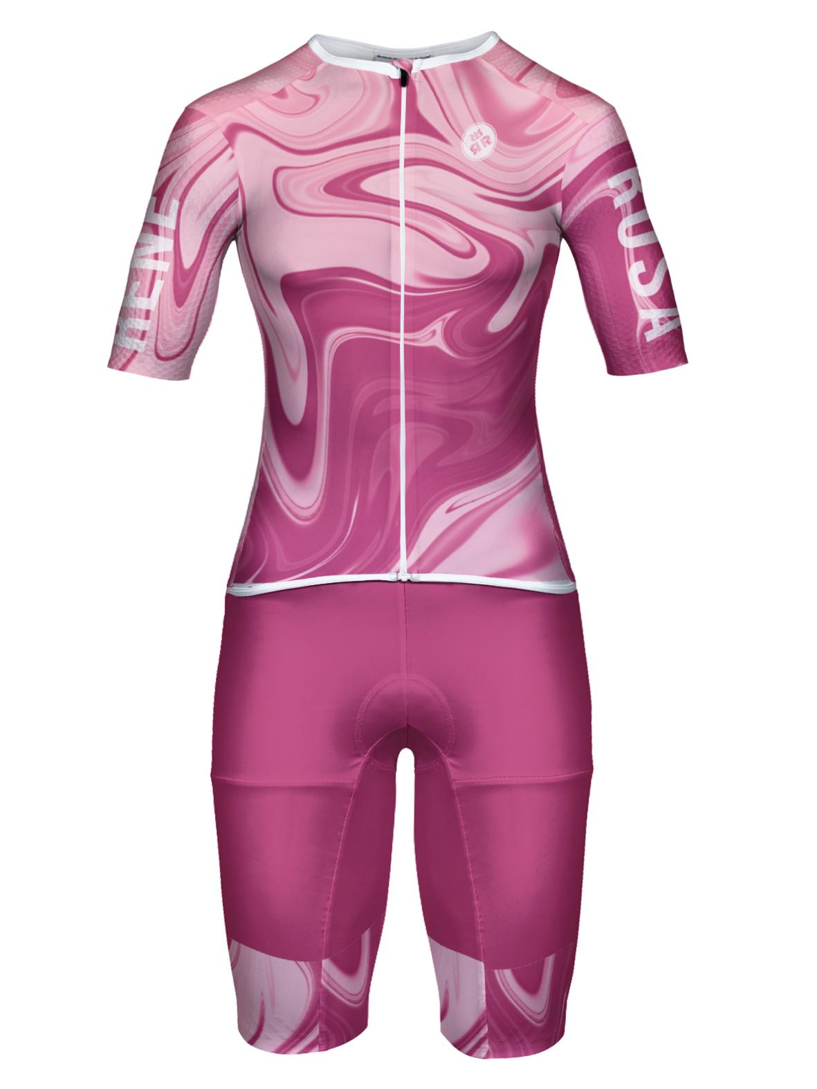Aero Triathlon Einteiler  RRT2777W Damen / Hyperdelic- Pink
