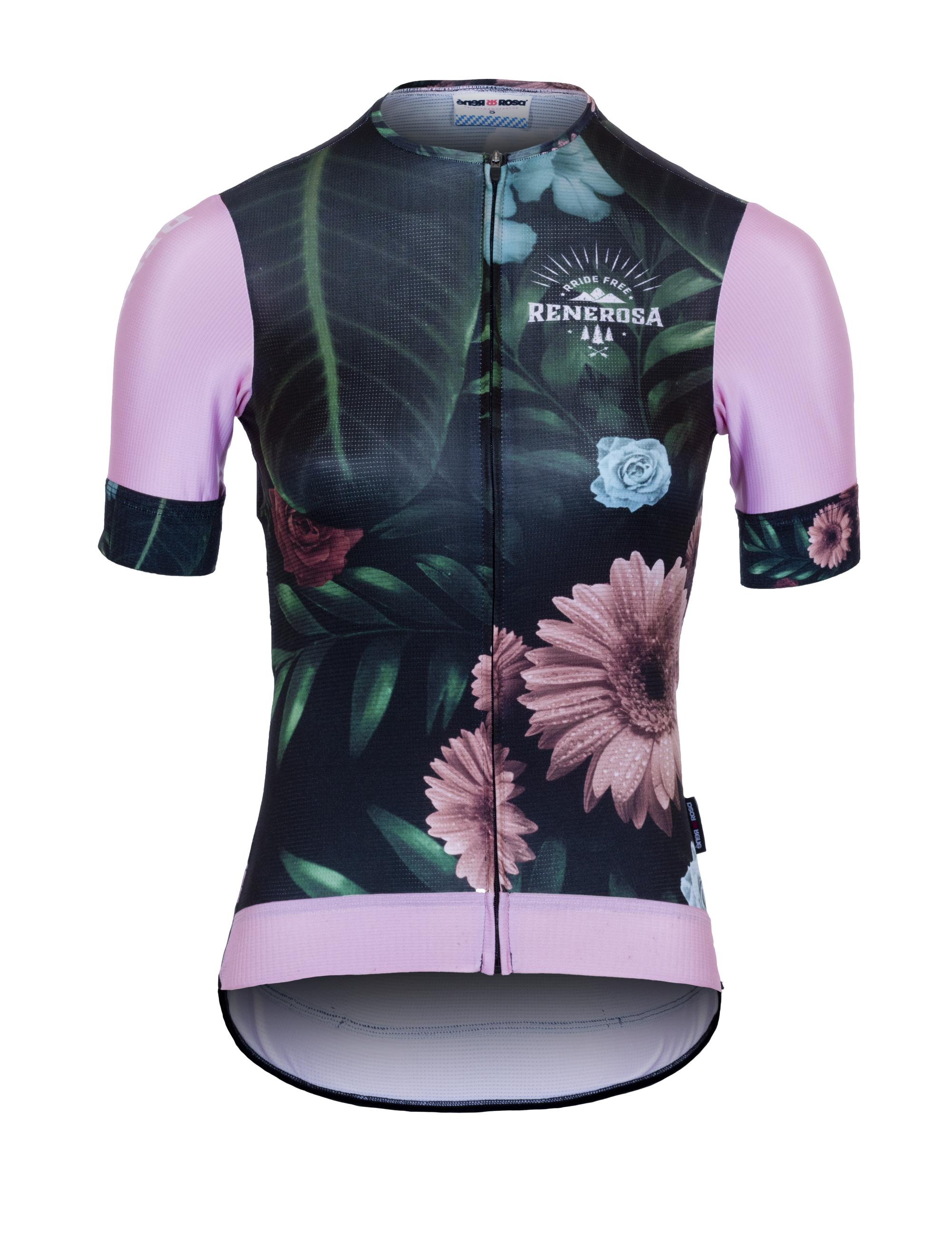 Kurzarm Radtrikot RRT2047W /  RRideFree Damen Flower Design