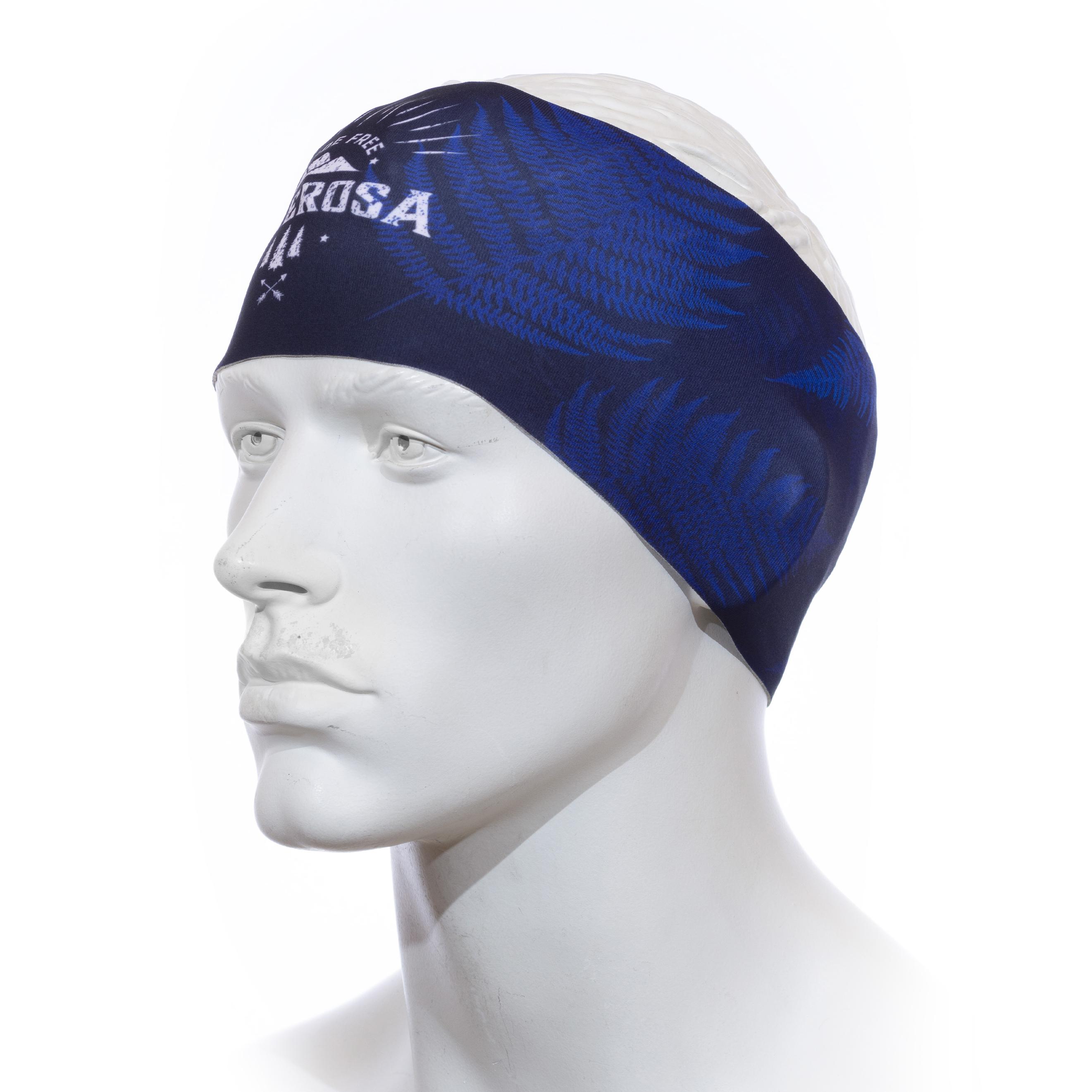 Stirnband Langläufer RRT991U / RRideFree Leafdesign Blau