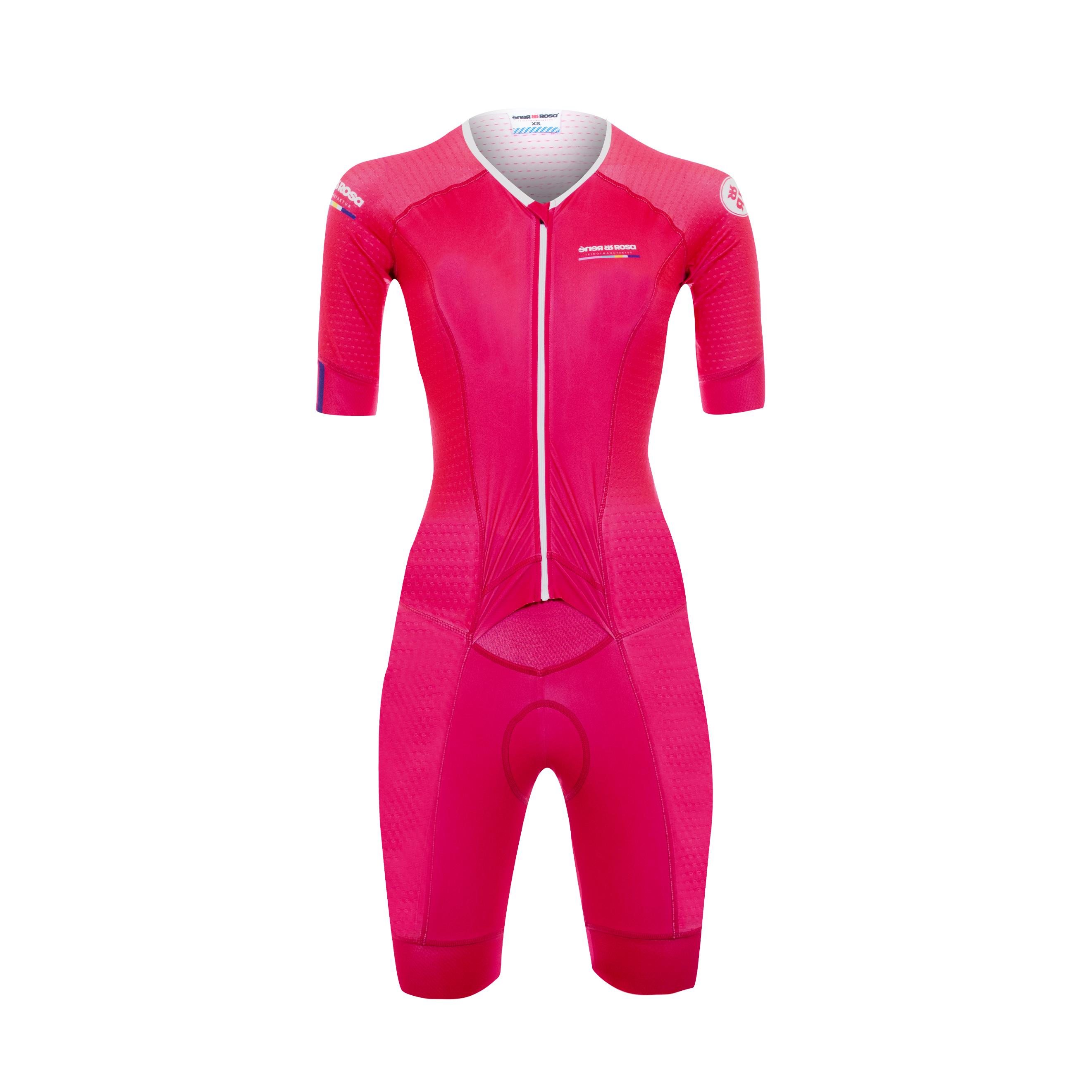 Aero Triathlon Einteiler RRT777M / RR-Stripes Pink