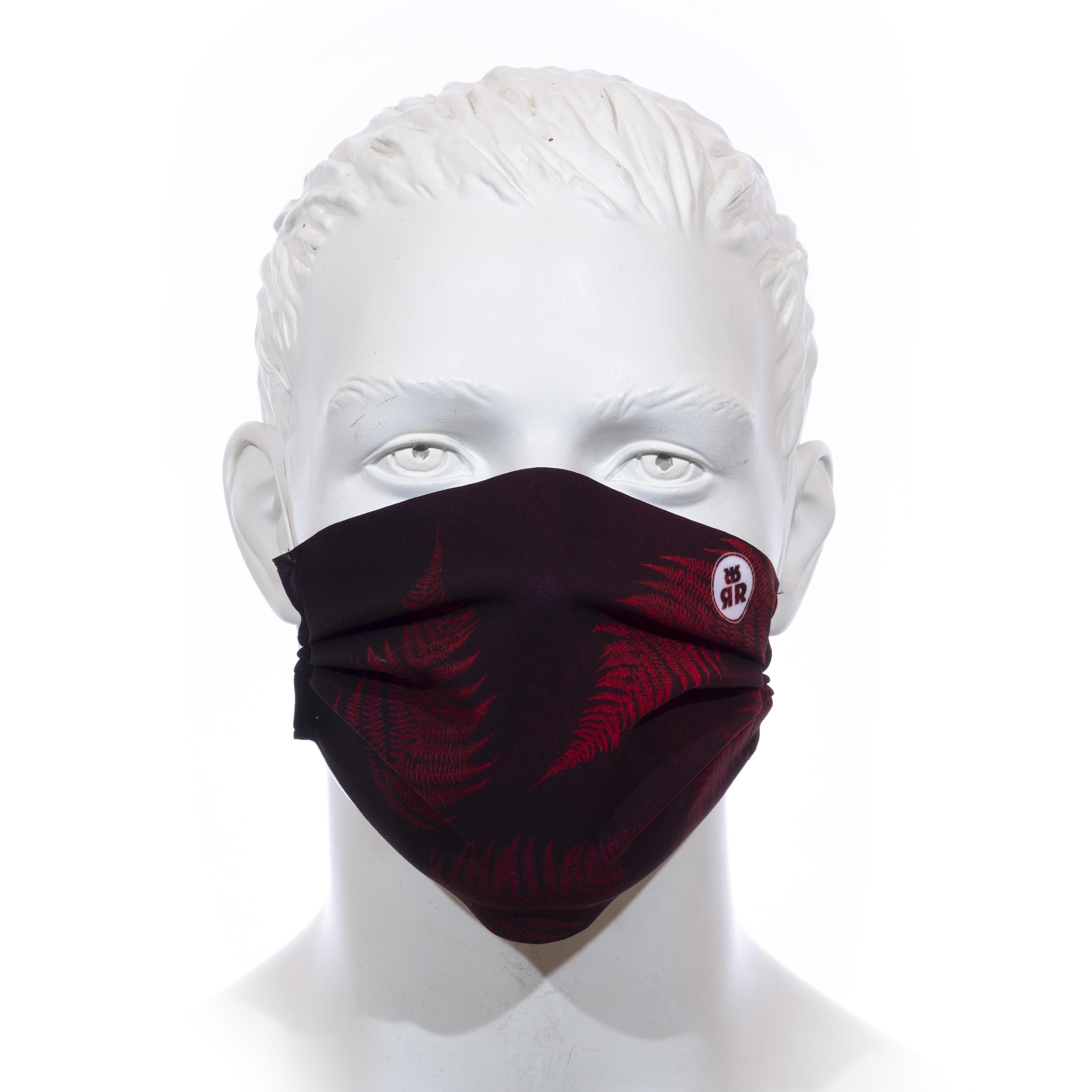 Facemask RRT1700M / RRide Free Leafdesign Rot