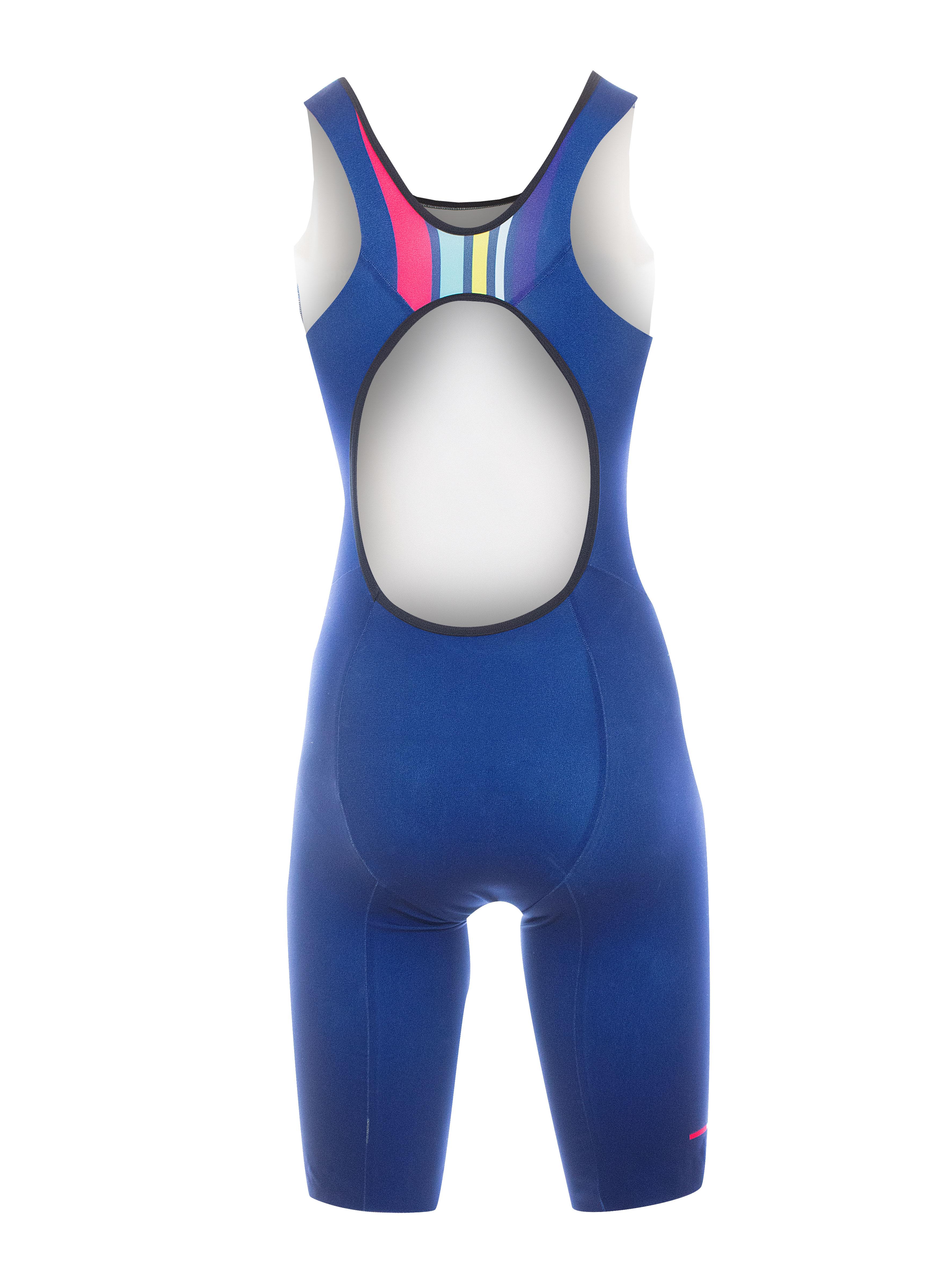Aero Triathlon Kurzdistanzeinteiler Damen RRT2780W / RR-Stripes Blau