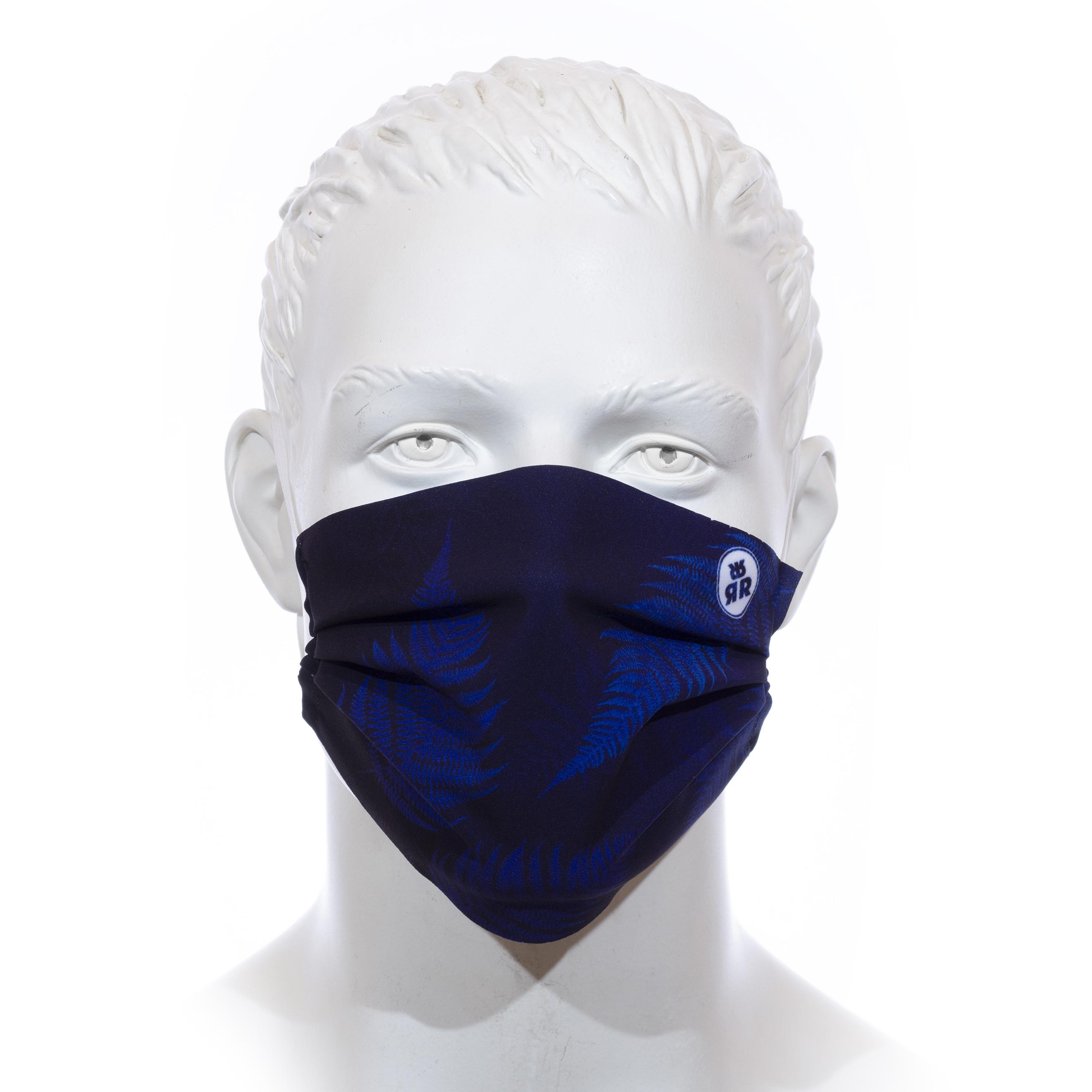 Facemask RRT1700M / RRide Free Leafdesign Blau