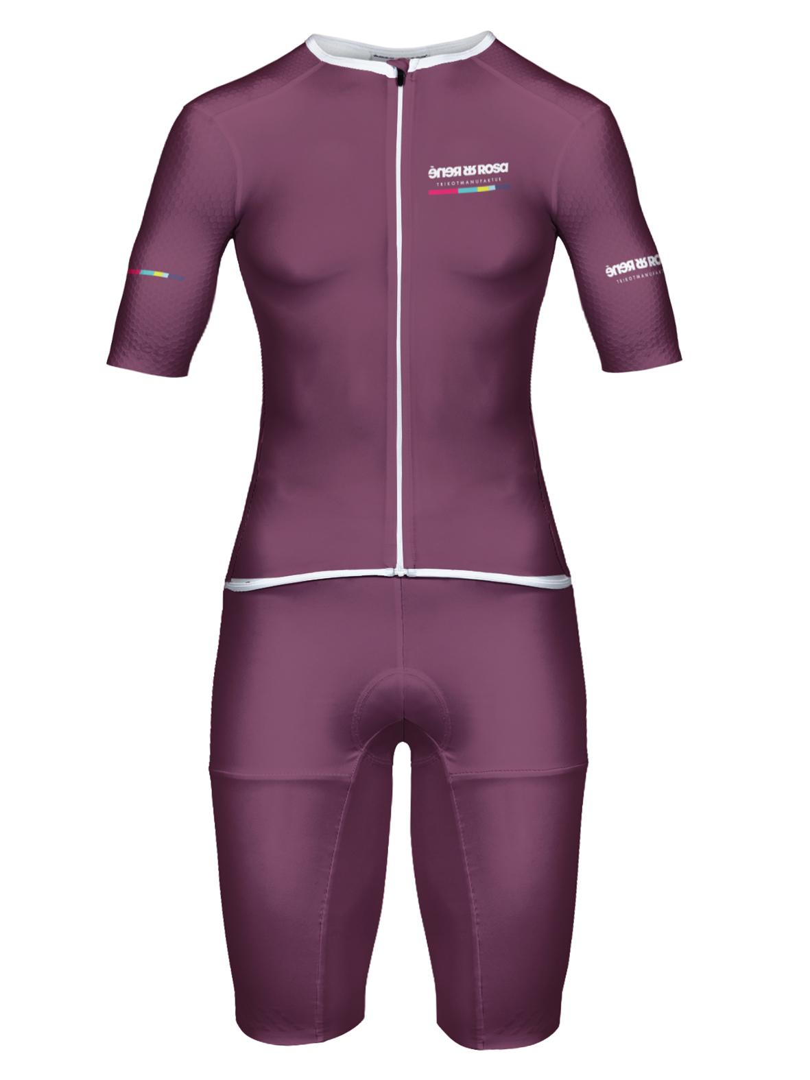 Aero Triathlon Einteiler  RRT2777W Damen / RR-Stripes Purple