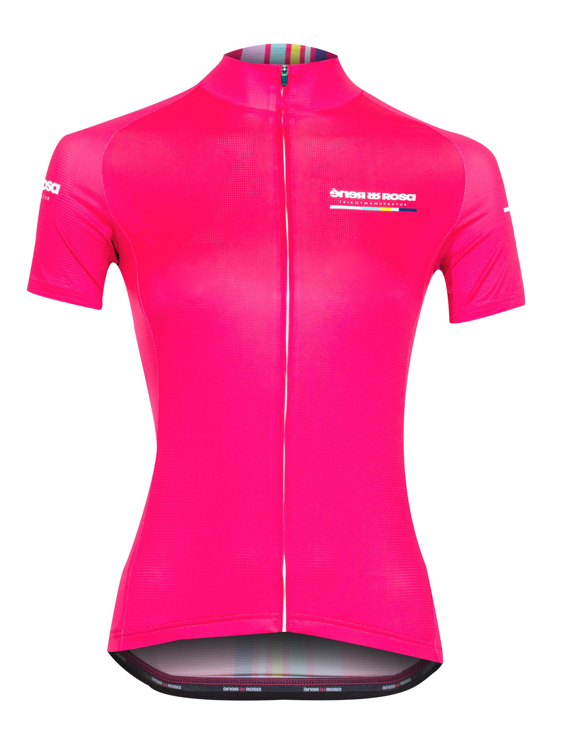 Kurzarm Radtrikot RRT047W /  RR-Stripes Pink
