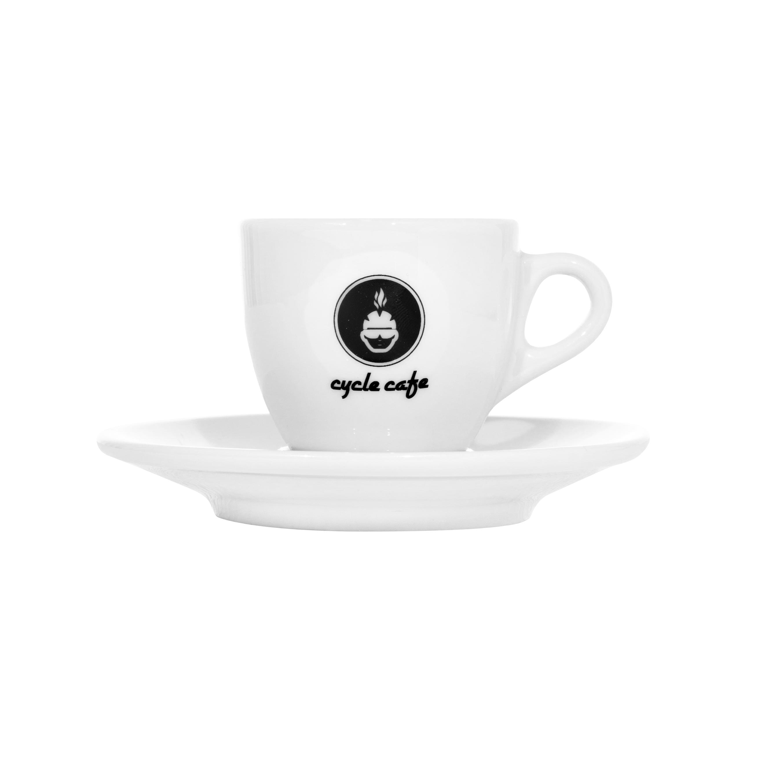 CycleCafe Espresso Tasse mit Untersetzer