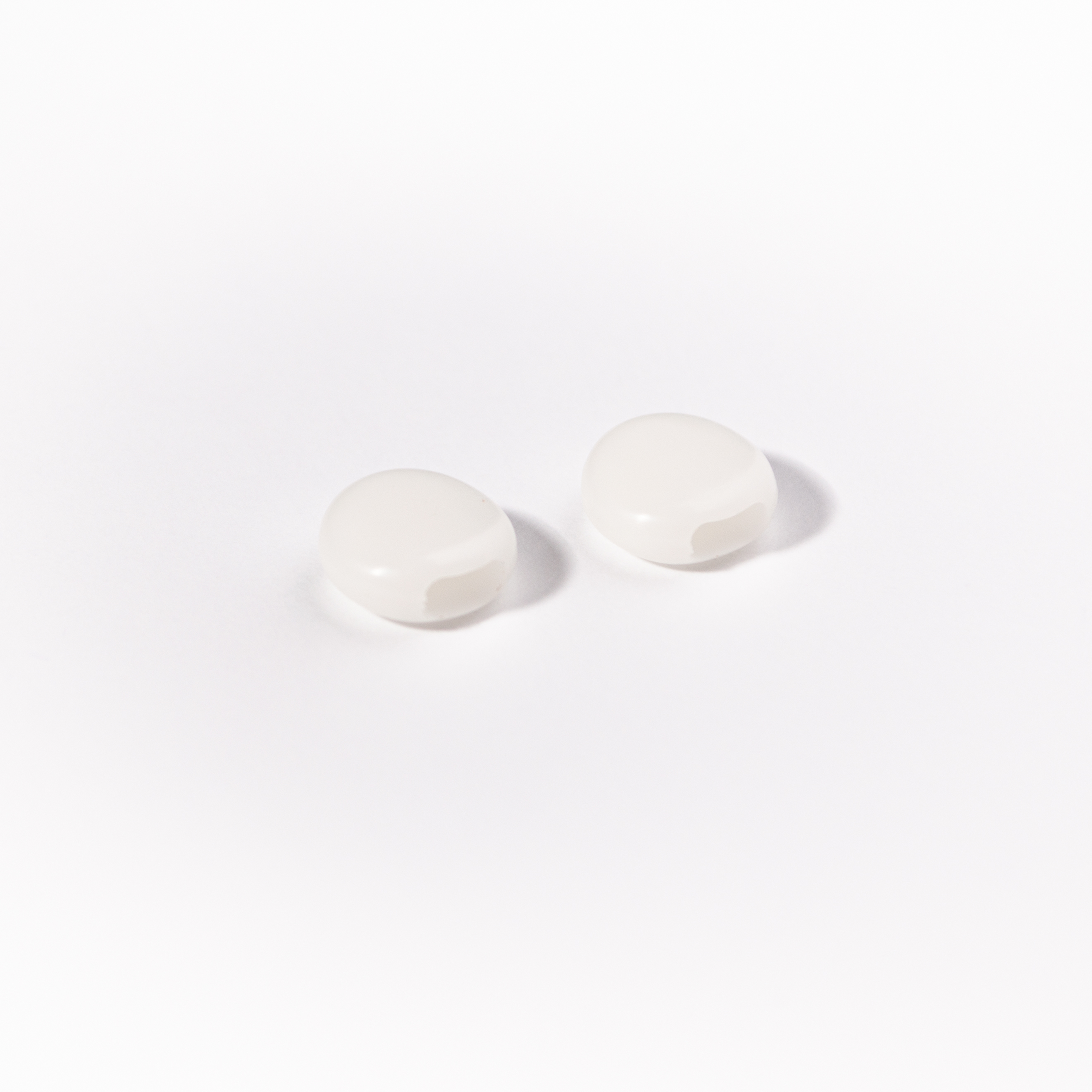 Verstellperlen Paar / Weiß