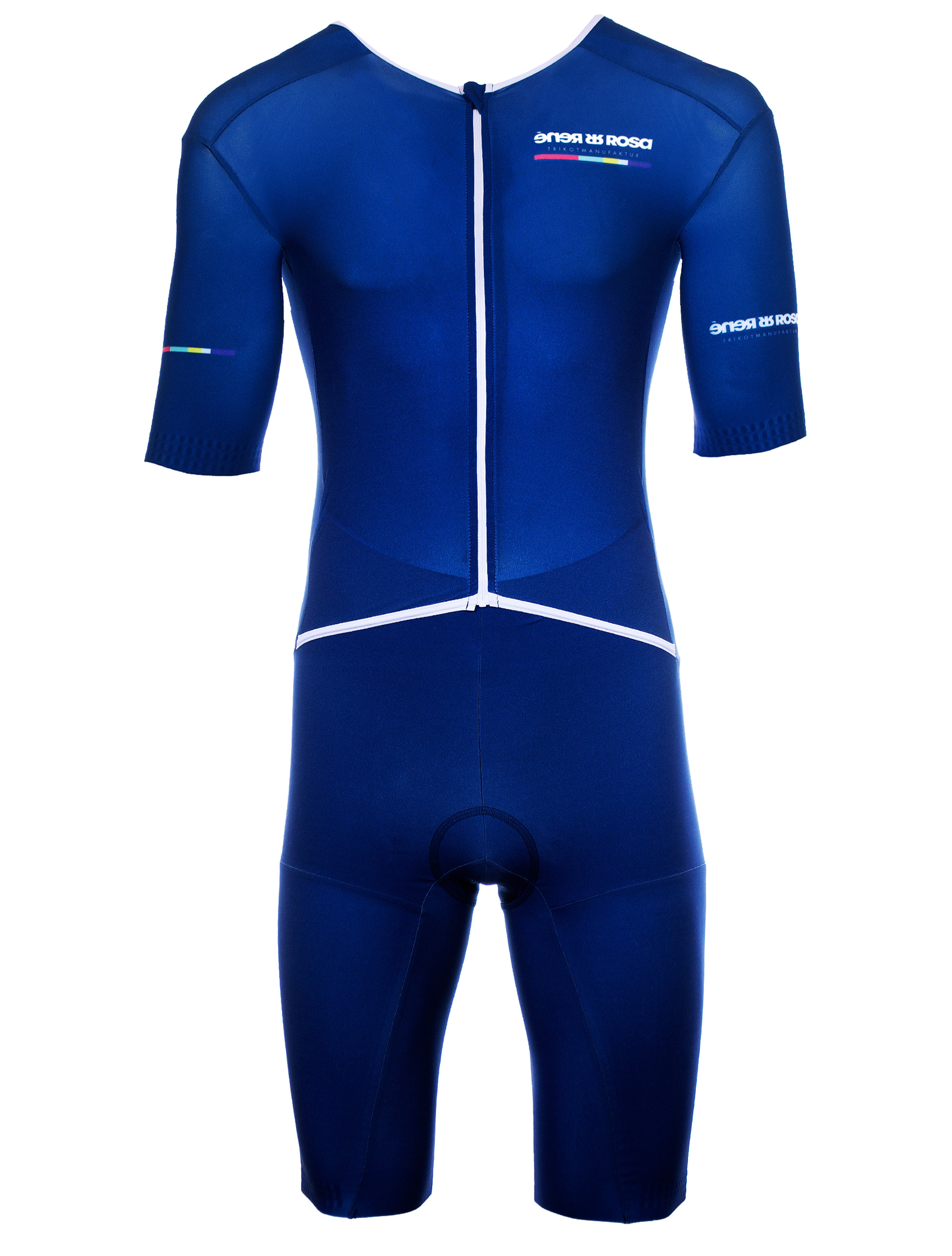 Aero Triathlon Einteiler  RRT2777M Longversion / RR-Stripes blau