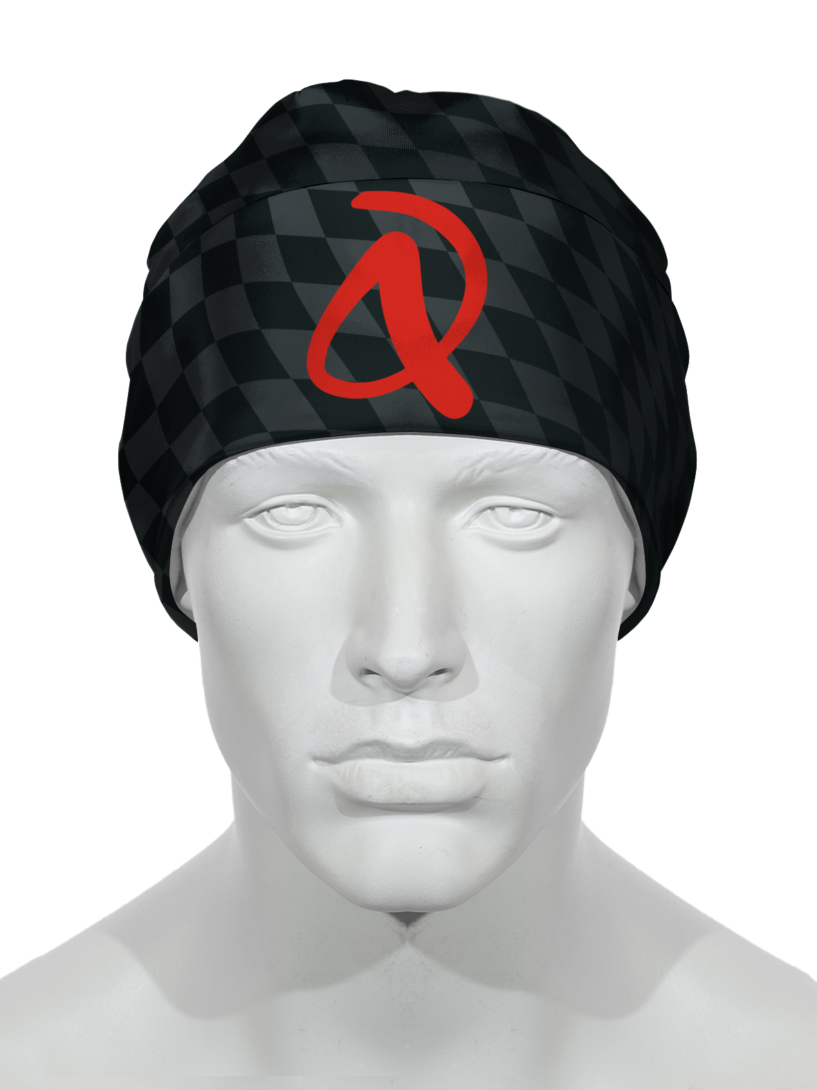 Wintermütze RRT992U / schwarz - rot / Andi Dreitz