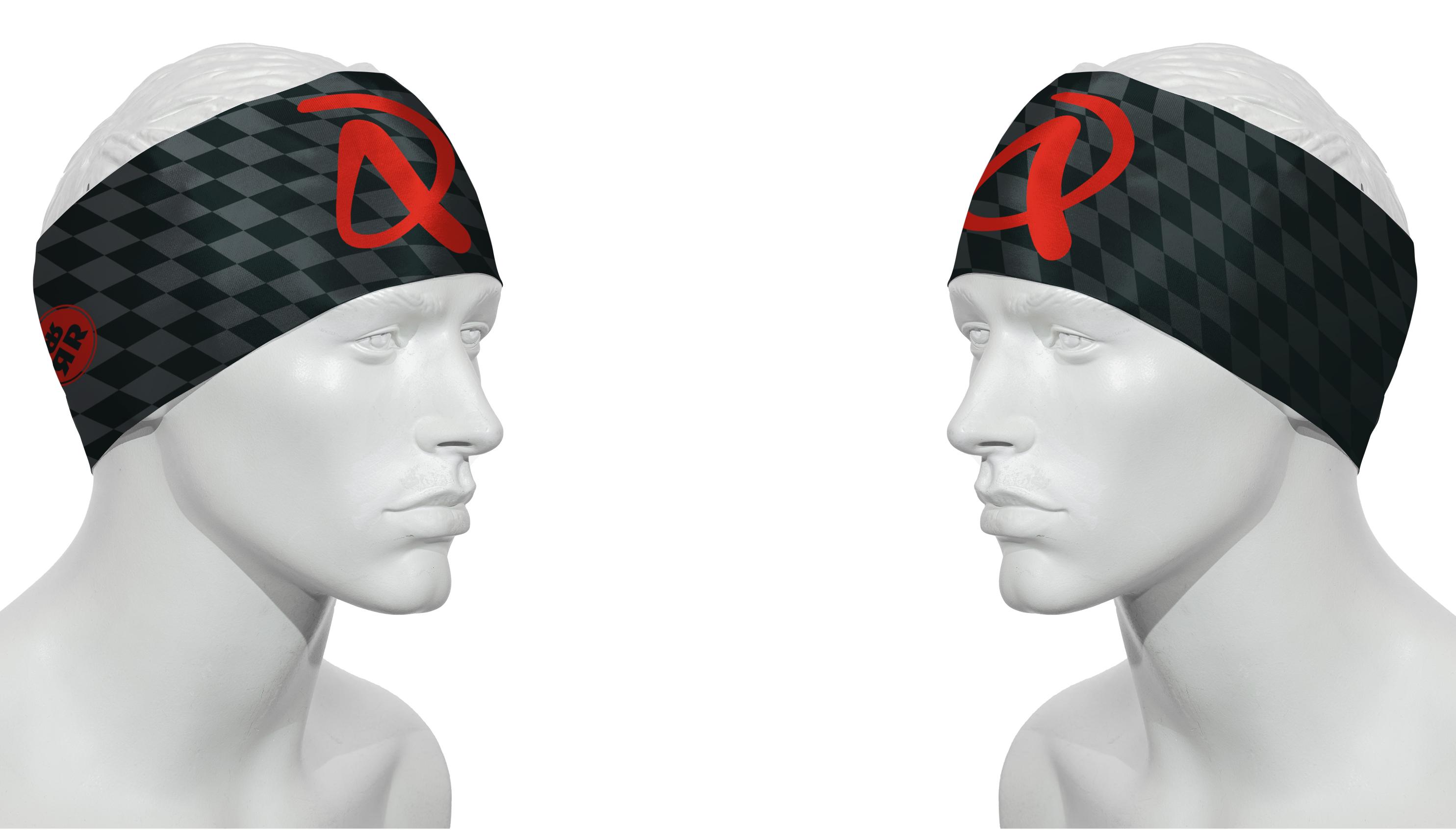 Stirnband RRT991U / schwarz - rot / Andi Dreitz