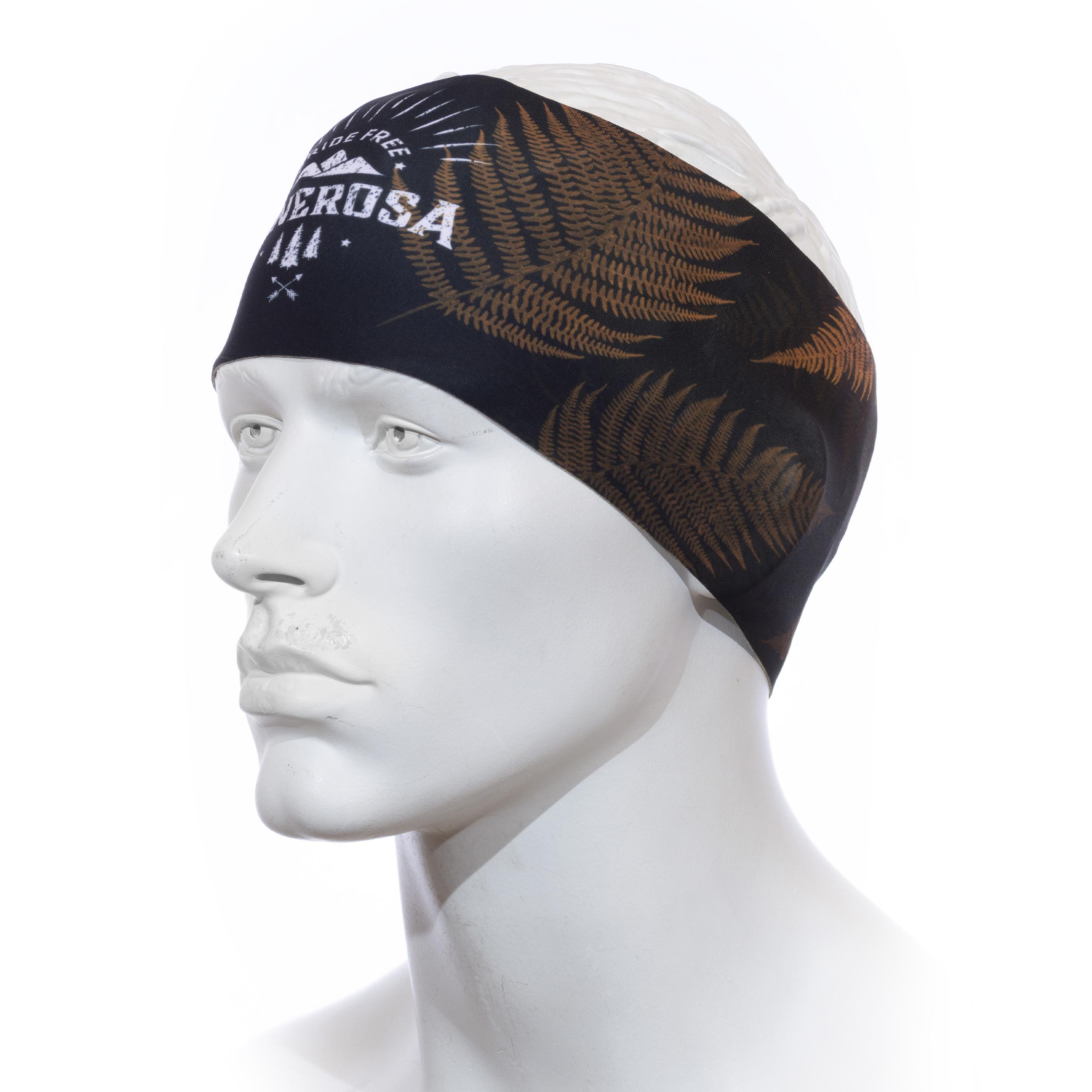 Stirnband Langläufer RRT991U / RRideFree Leafdesign Senfgelb