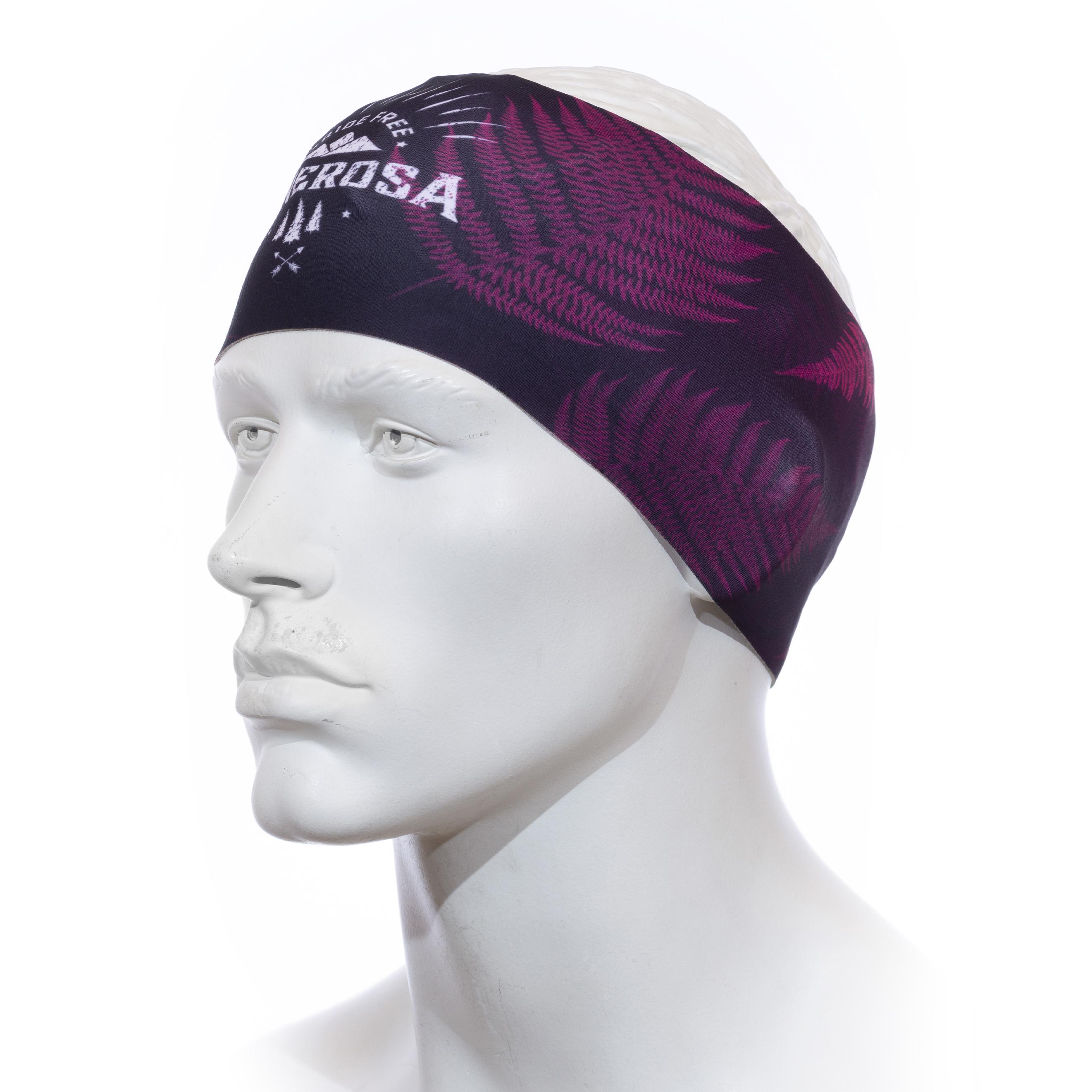 Stirnband Langläufer RRT991U / RRideFree Leafdesign Pink