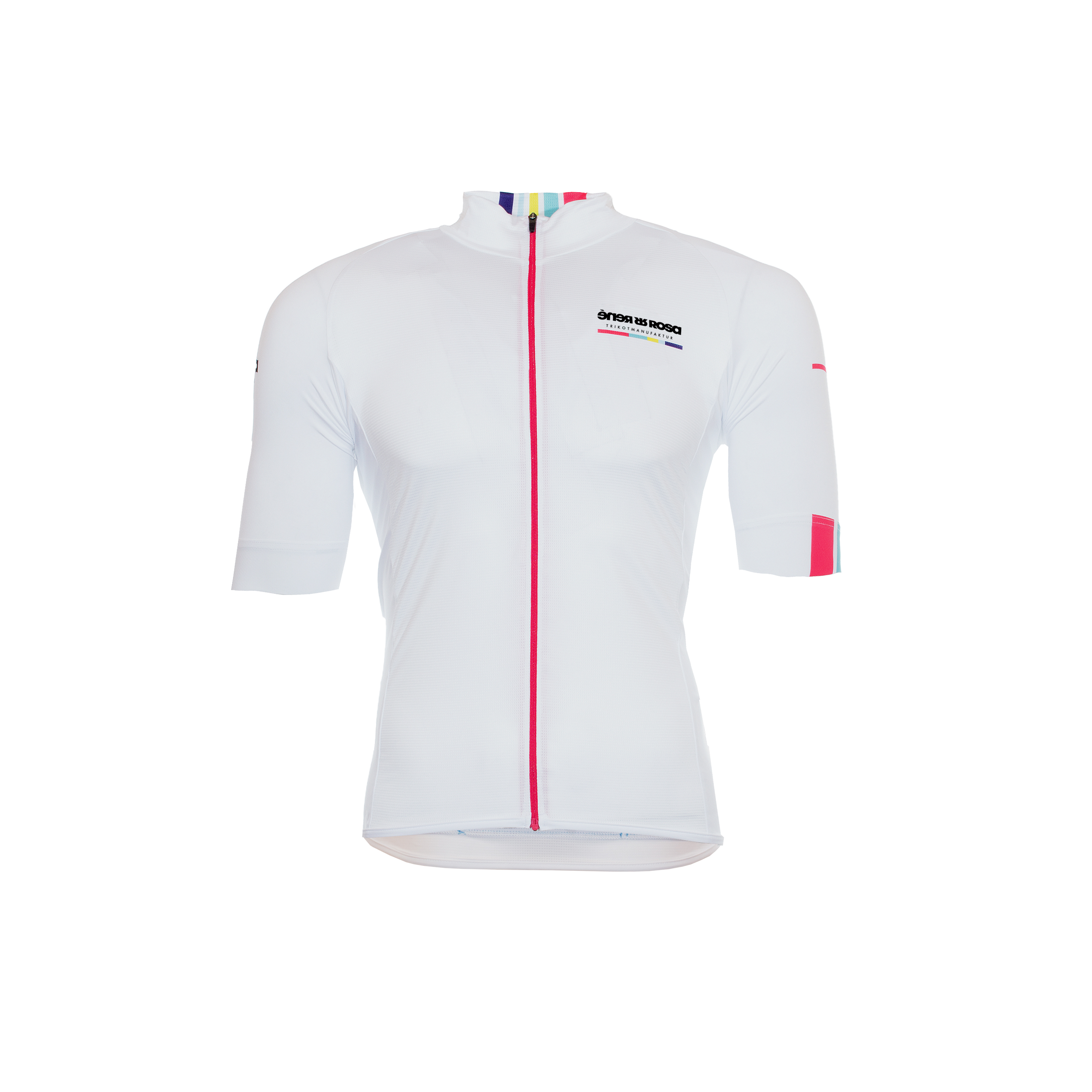 Kurzarm Radtrikot RRT044M / RR-Stripes White