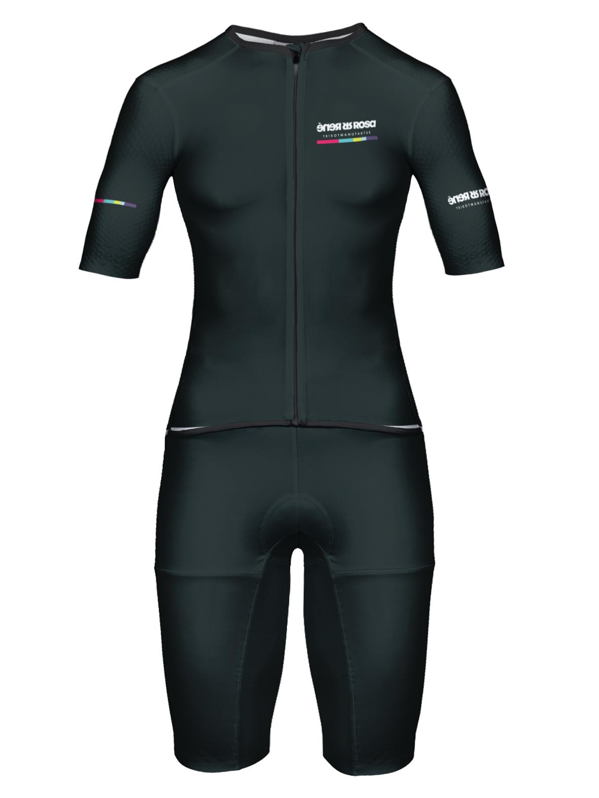 Aero Triathlon Einteiler  RRT2777W Damen / RR-Stripes Schwarz