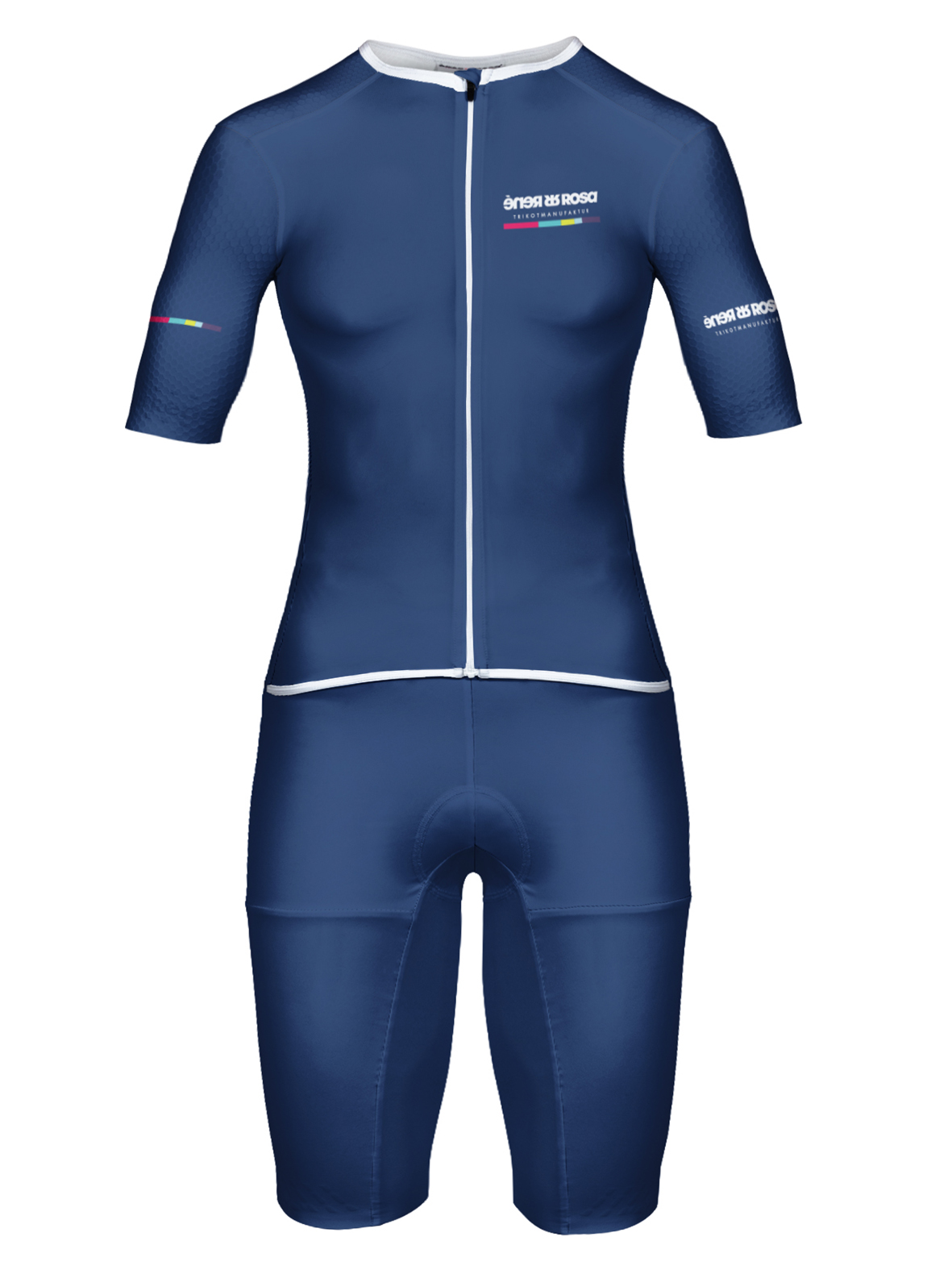 Aero Triathlon Einteiler  RRT2777W Damen / RR-Stripes blau