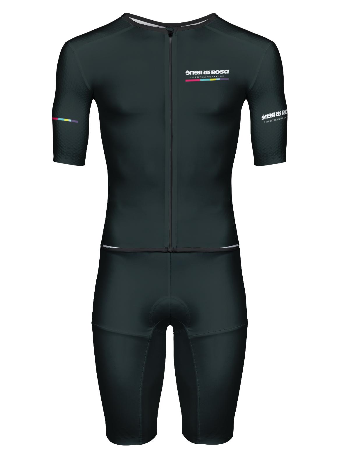 Aero Triathlon Einteiler  RRT2777M Herren Longversion / RR-Stripes Black