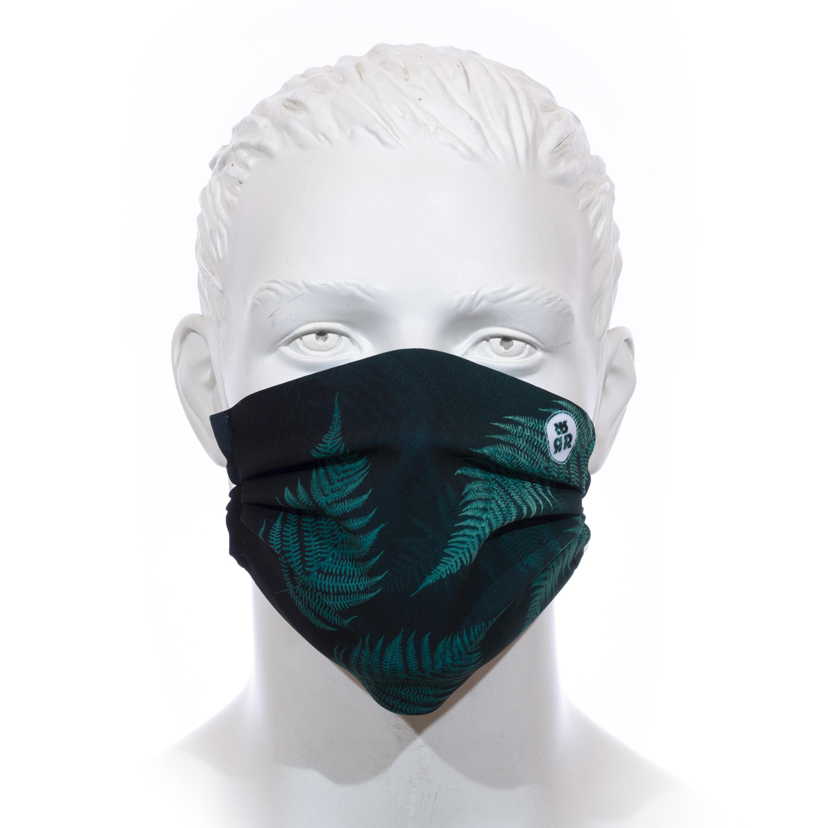 Facemask RRT1700M / RRide Free Leafdesign Grün