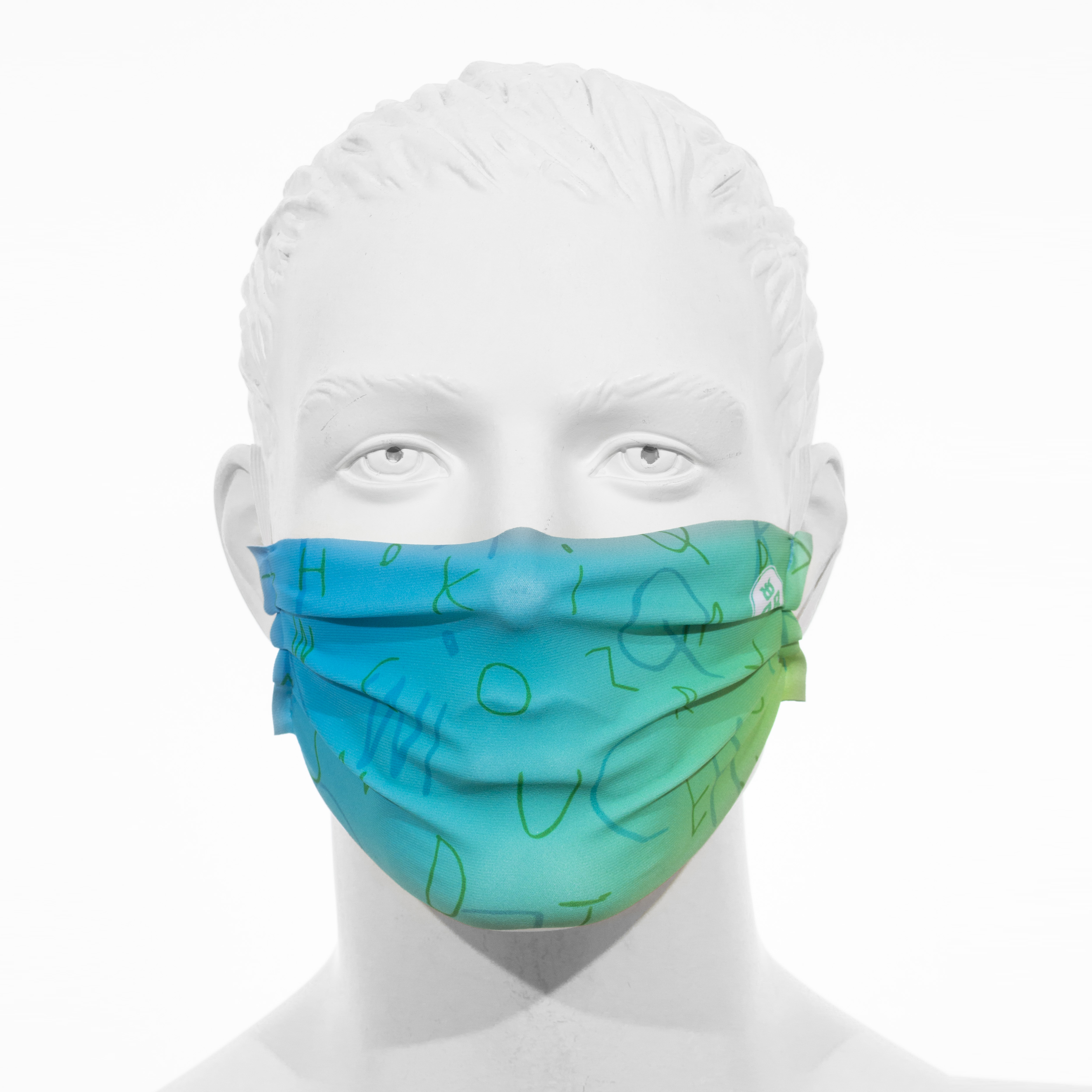 Facemask RRT1700MJ / Petrol - Hellgrün