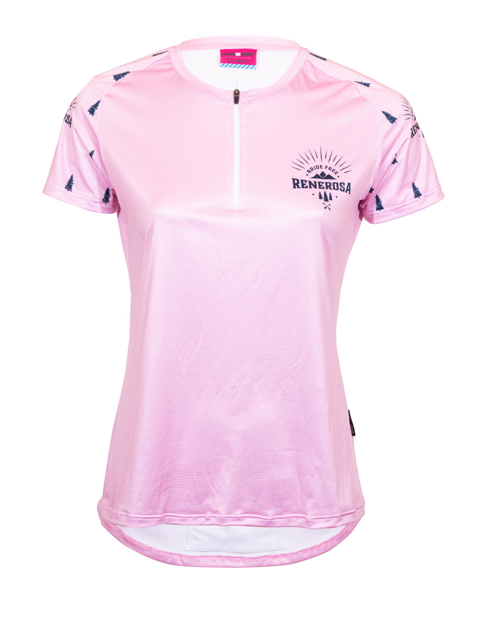 E-Bike Shirt mit viertel Zip / RRide Free PinkBlue