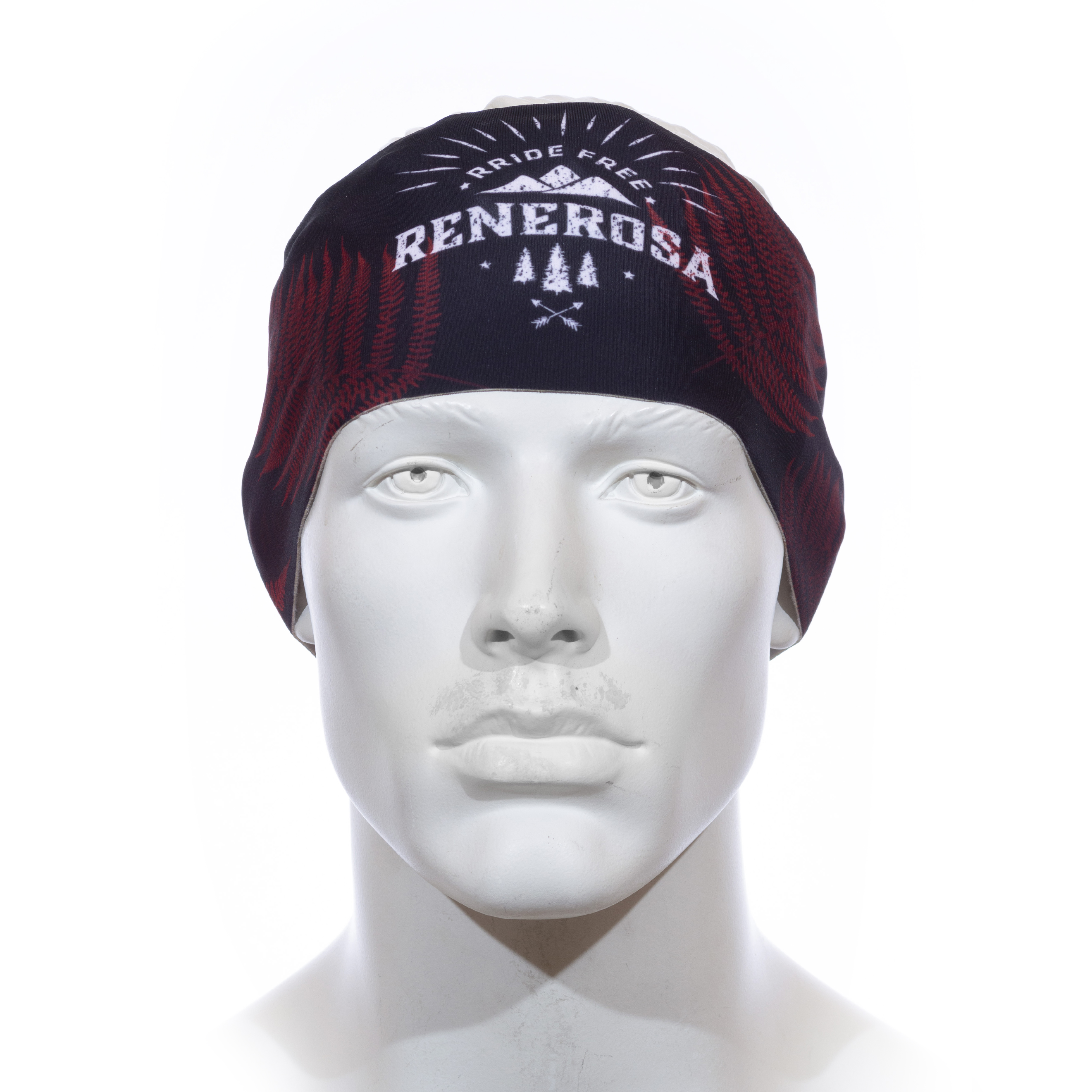 Stirnband Langläufer RRT991U / RRideFree Leafdesign Rot