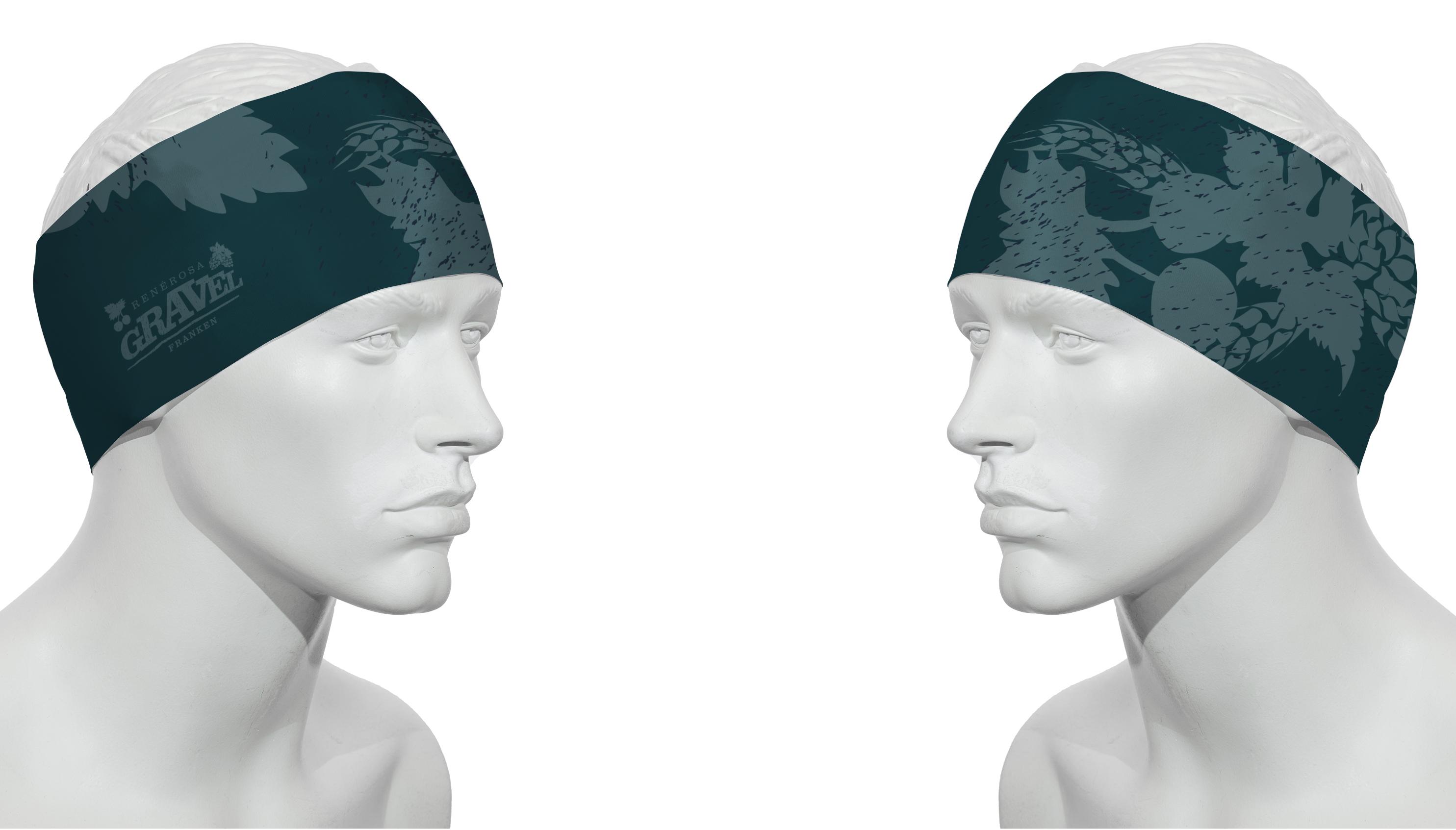 Stirnband Gravel Franken Brombach Blaugrau