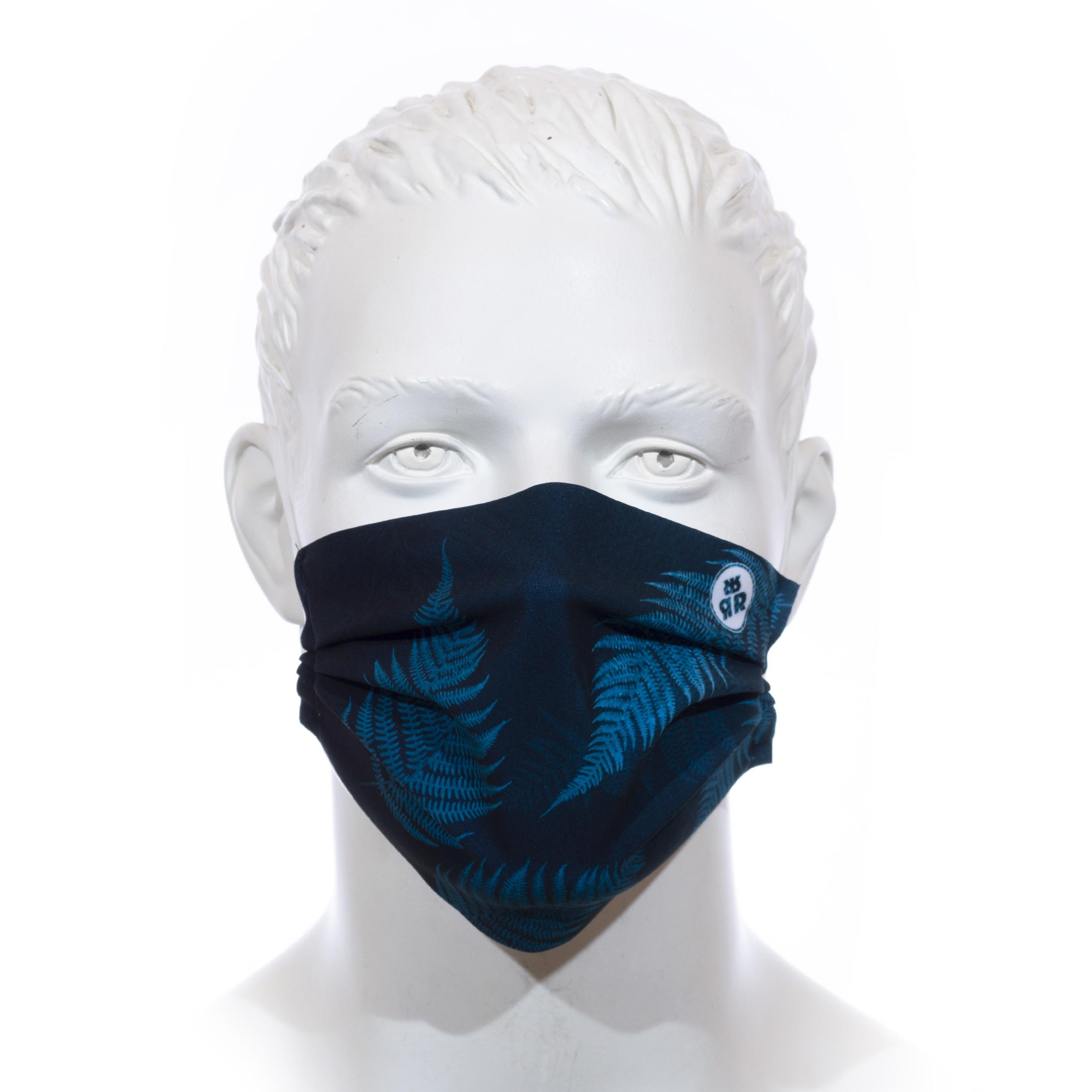 Facemask RRT1700M / RRide Free Leafdesign Petrol