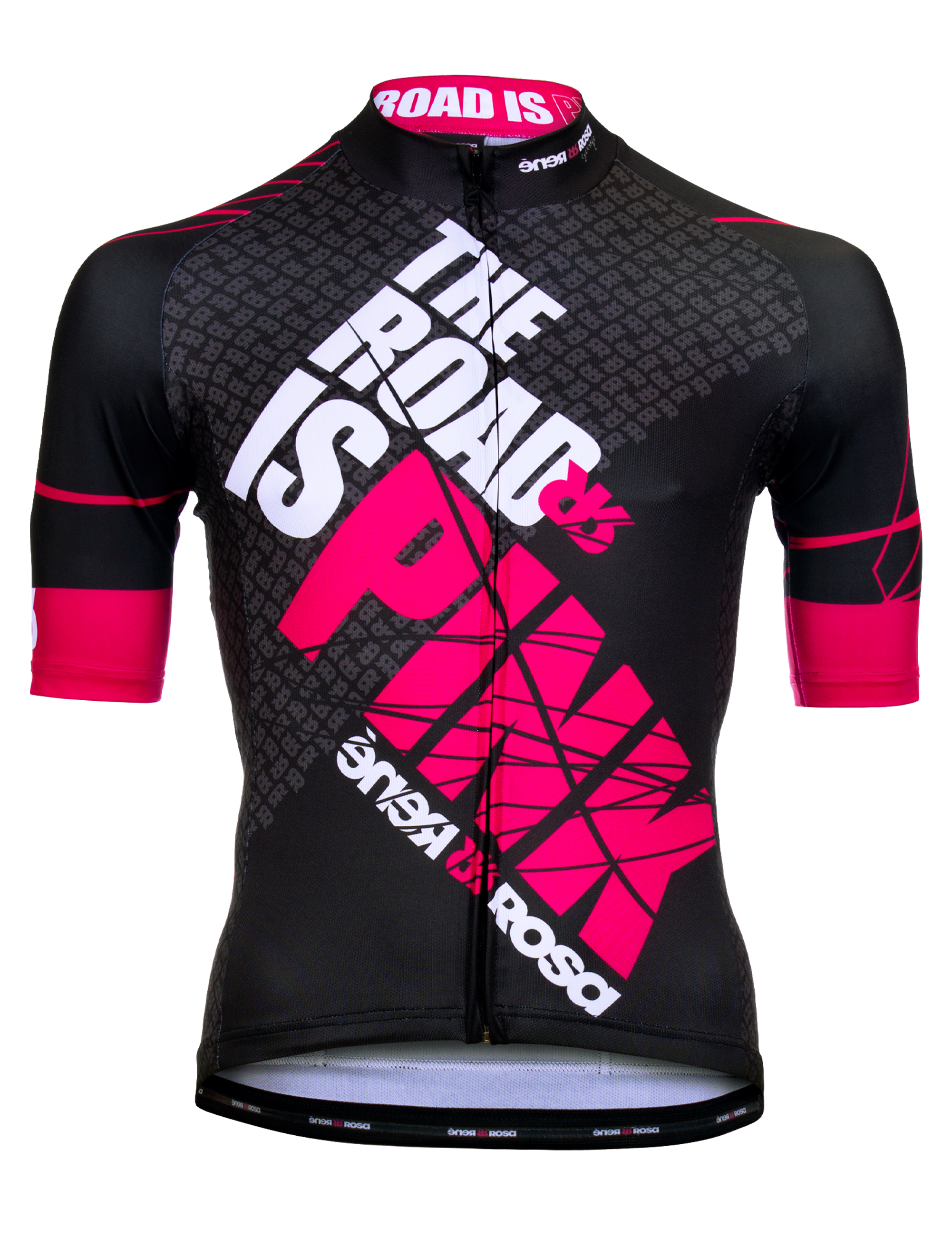 Kurzarm Radtrikot RRT042M / The Road is Pink